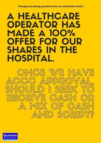 Manage sale of hospital