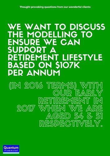 Retirement projections